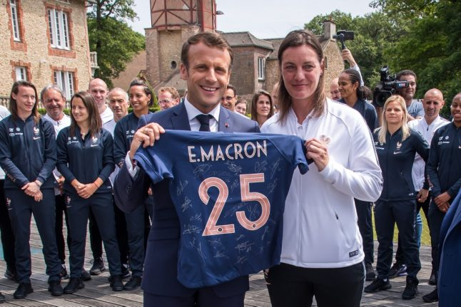 Macron tells les bleues 'play as a team' ahead of World Cup kick off in France
