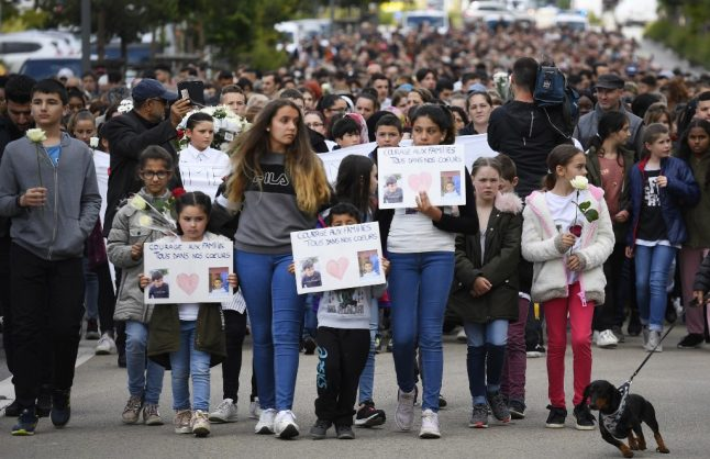 Outrage in France as police hunt hit-and-run driver who killed 9-year-old