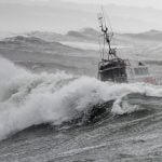 IN PICTURES: Storm Miguel batters western France