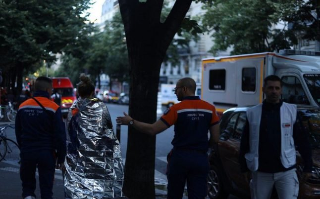 Three dead and 28 injured in central Paris fire