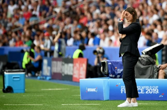 France coach laments 'failure' as hosts knocked out of World Cup