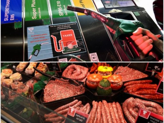 Why is the cost of pork and petrol rising so sharply in France?