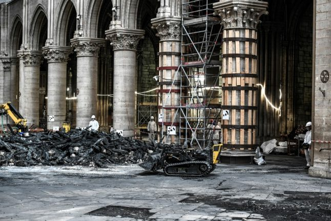 IN PICTURES: See the latest images from inside fire ravaged Notre-Dame