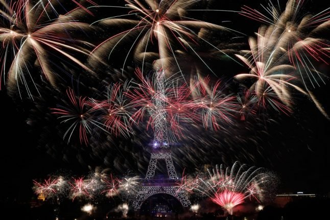 VIDEO: Watch the spectacular Bastille Day fireworks show over the Eiffel Tower