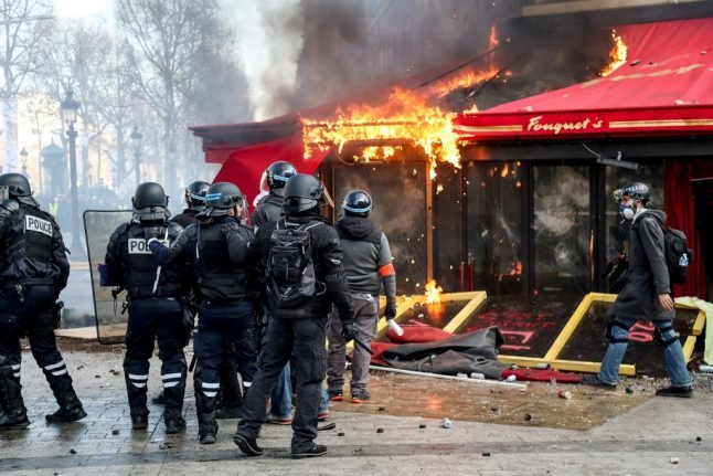 Iconic Paris restaurant burned out during 'yellow vest' protests is to reopen