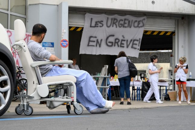 'There is a crisis': Hundreds of hospitals in France hit by strike action