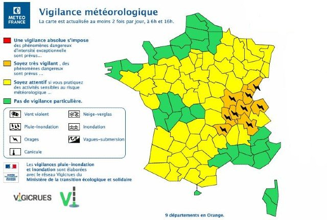 Storm warnings issued as torrential rain forecast in France