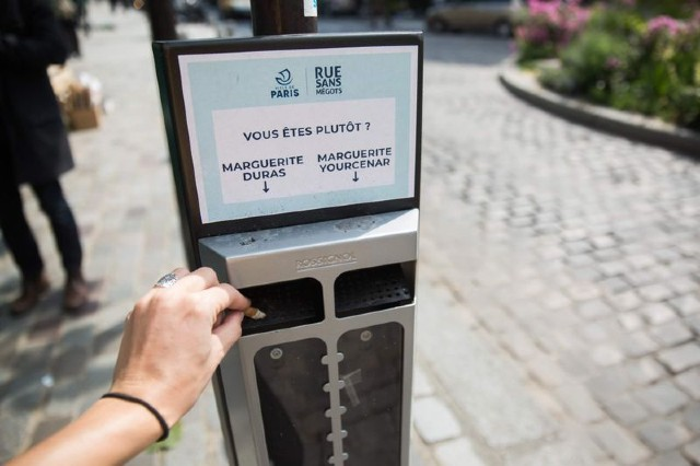 Why are French cities full of bins with questions on them?