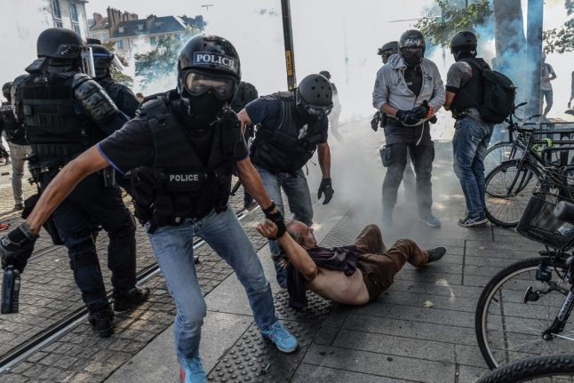 French police clash with protesters marking death of festival-goer