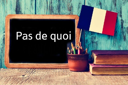 French Word of the Day: Pas de quoi