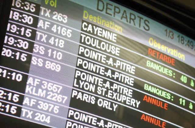 Half a million people saw delayed or cancelled flights to and from France