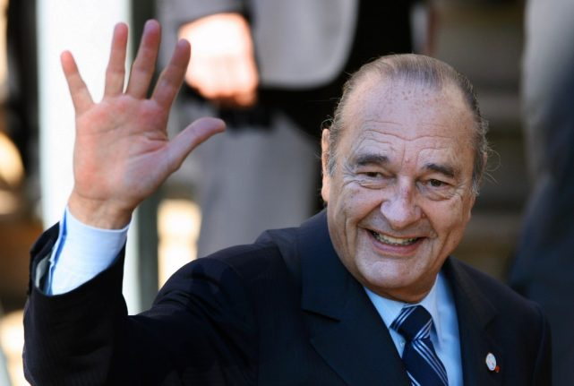 Former French president Jacques Chirac dies at the age of 86