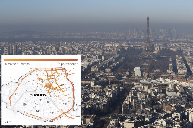 New online map reveals exactly where Paris pollution levels are highest