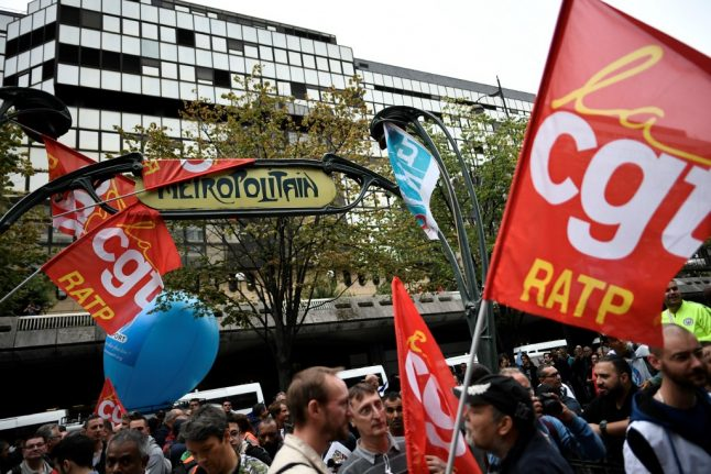 Call for 'unlimited' transport strikes in Paris until December