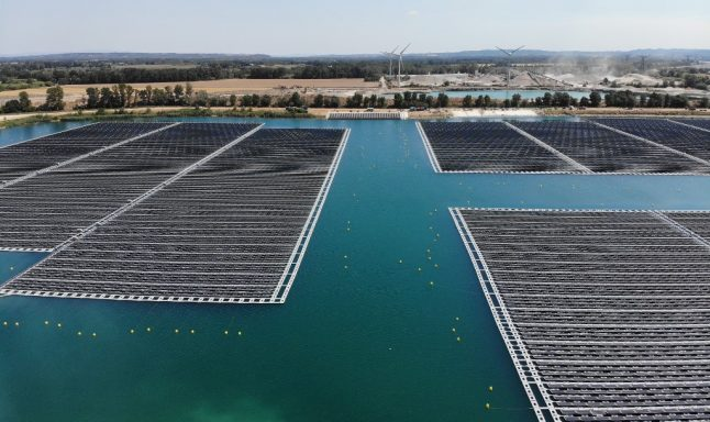 IN PICTURES: France's first floating solar power plant