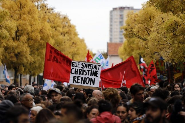 French teachers take to the streets to protest 'exhaustion' after headteacher's suicide