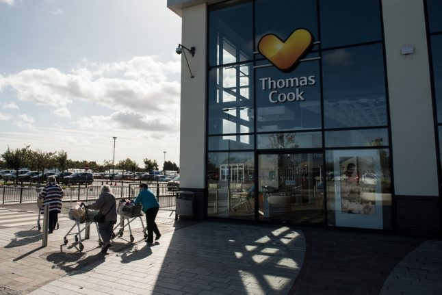 French arm of UK firm Thomas Cook placed into receivership