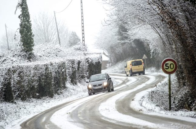 France issues first snow warnings of season as wintry weather arrives