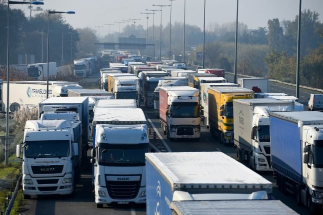 French lorry drivers announce road blocks in fuel tax protest