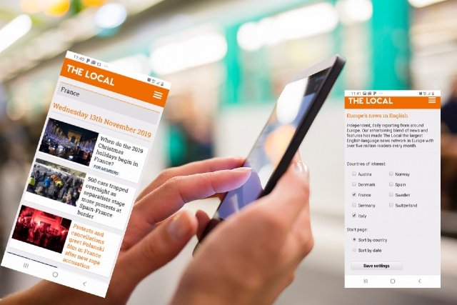ALERT: Read all our articles on France via The Local's smartphone apps