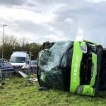 33 hurt after Paris to London Flixbus overturns in northern France