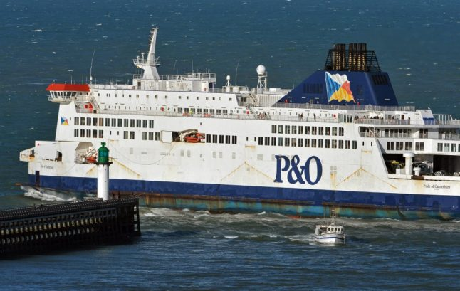 P&O ferry crew rescue migrant trying to swim from France to Britain