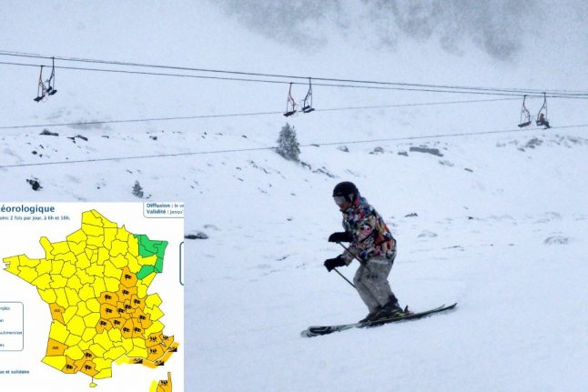 Strong winds close ski slopes in France and leave tens of thousands without power