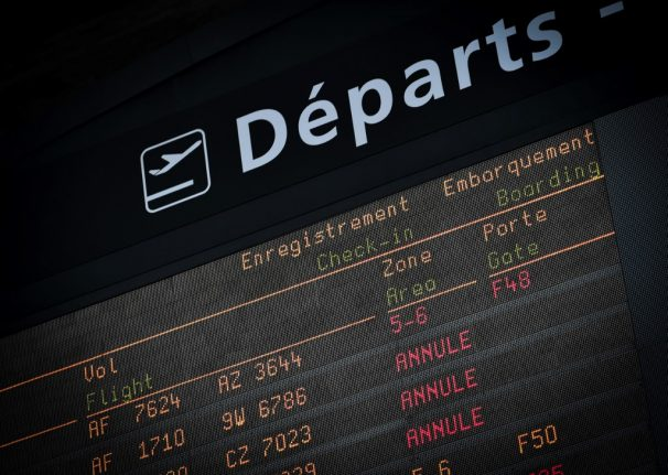 UPDATE: One fifth of flights in France to be hit by Thursday's strike action