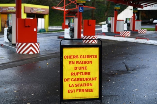 Hundreds of fuel stations in France run dry as oil depot blockade continues