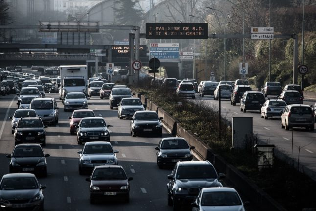 France faces Christmas traffic jams as train strikes force travellers onto roads