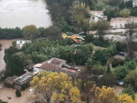 Three killed in helicopter crash while on flood rescue mission in southern France