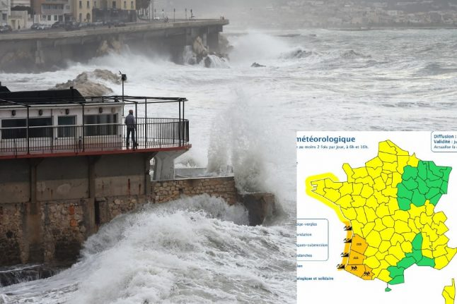 Strong winds and downpours to batter south west France