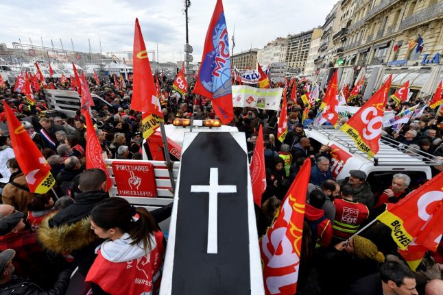 IN PICTURES: Strikers cripple transport and stage protests around France