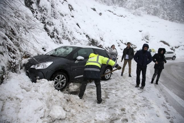 IN PICTURES: Storm Gloria brings high winds and snow to France