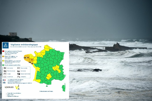 Warning over coastal flooding and high winds in north and west France