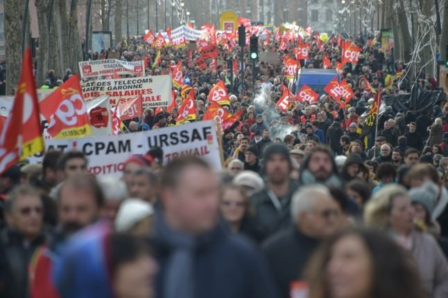 France faces more street protests as pension strikes continue on Thursday