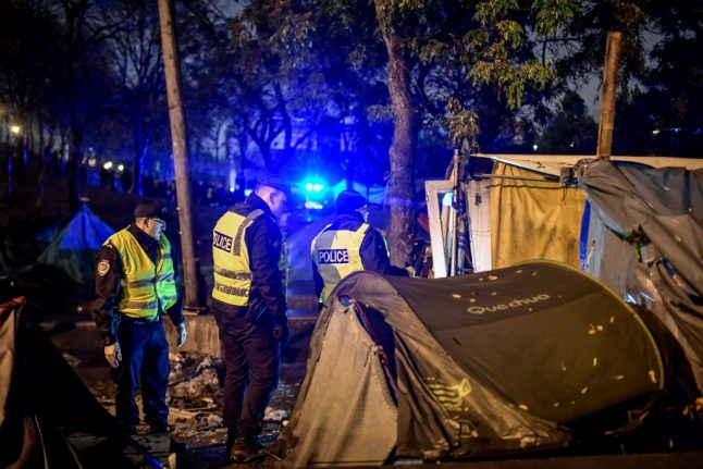French police clear last migrant camp in north Paris