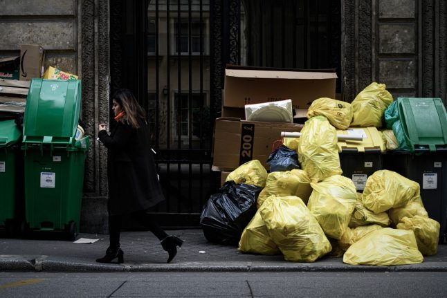 IN PICTURES: Paris bins overflow as waste depot strike continues