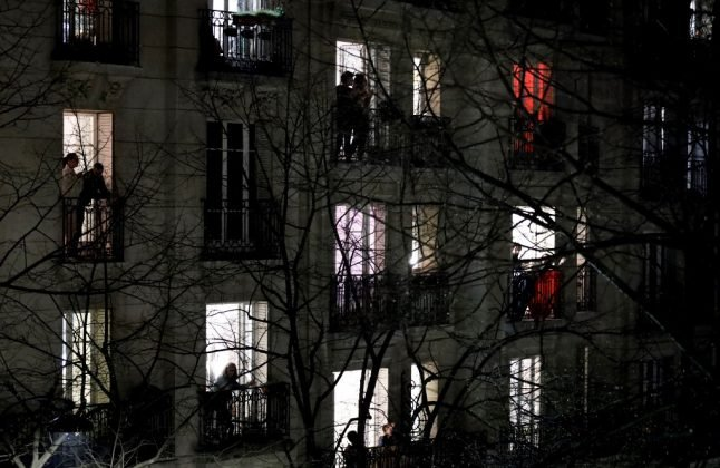 VIDEO: Confined French cheer medical workers from windows and balconies