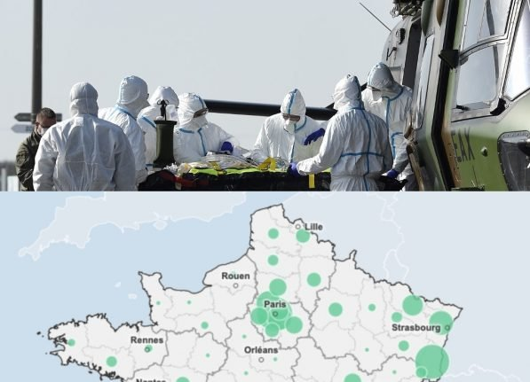 Maps: How different départements in France have been hit by the coronavirus epidemic
