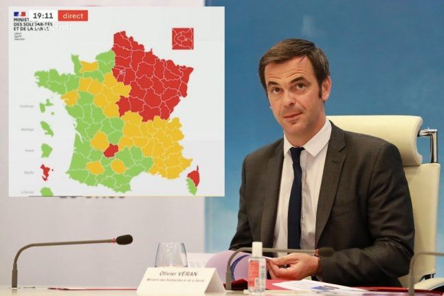 Red or green: France reveals first version of map showing coronavirus situation by département