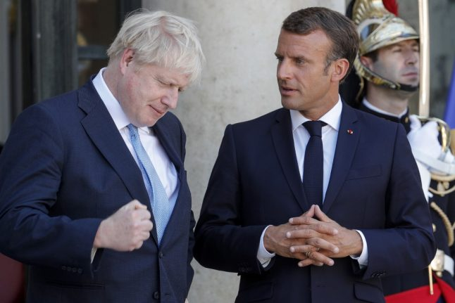 French president Macron sends message of support to Boris Johnson
