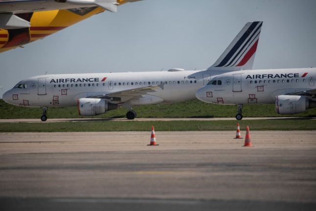 Air France-KLM to ground more than 90 percent of planes over next two months