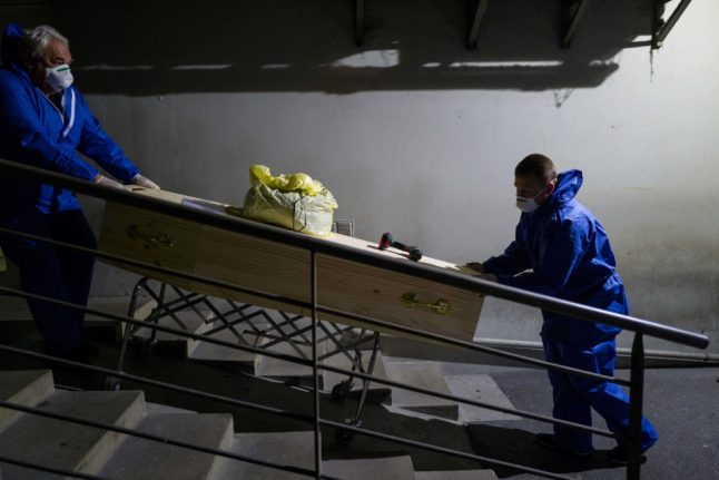 Paris police requisition hall at Rungis food market to store bodies of coronavirus victims