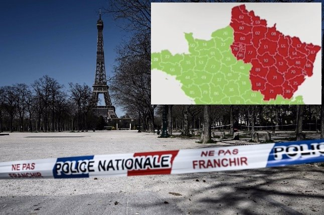 Easing lockdown in France: What's the difference if you live in a red and green département?