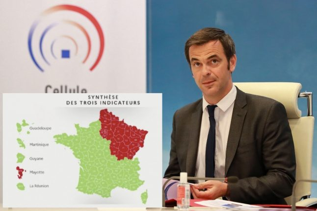 Discover France's final map of red and green départements for easing restrictions