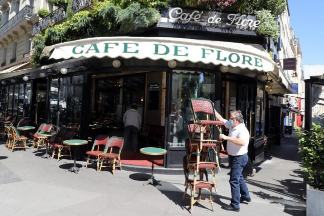 Cafés in France get extra terrace space for reopening on Tuesday