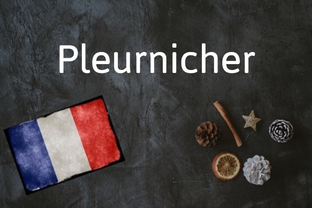 French word of the day: Pleurnicher