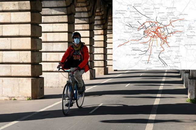 Paris to roll out 50km of cycle lanes to stop spread of Covid-19 on public transport