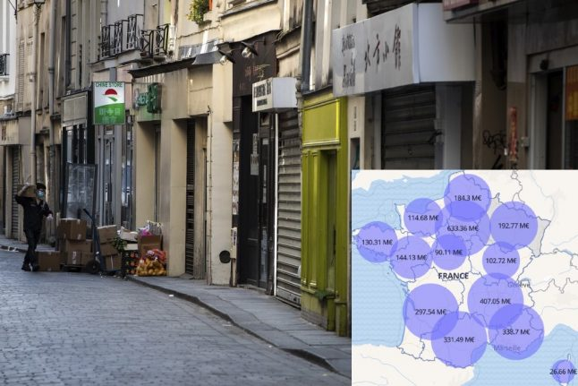 MAP: Where France is spending its €7bn fund to help self-employed
